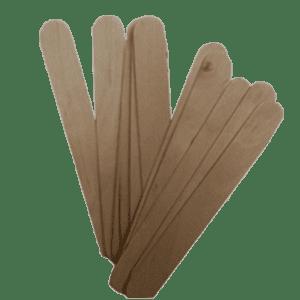 Houten Spatels Breed doos 100 stuks